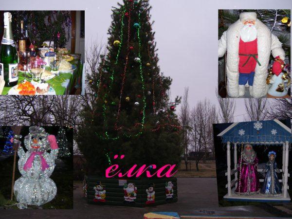 Городская елка в центре Кременчуга устанавливается каждый год