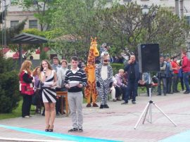 Открытие фонтана у ПАО «Кредмаш» 30.04.2015г.