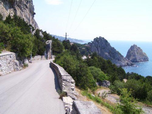 Дорога в Симеиз из Кацивели