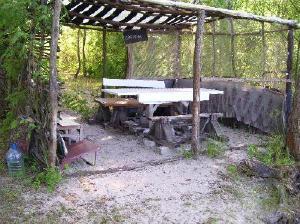 Место для отдыха на островах Днепра