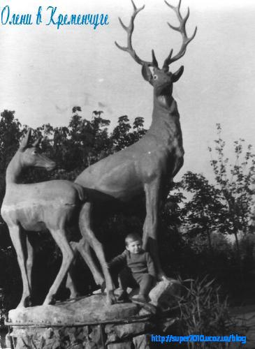 Олени в Приднепровском парке в 60-е годы
