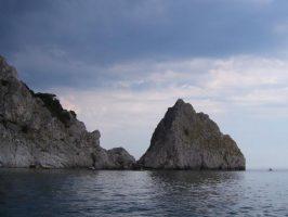 Вид на Диву с моря, с Голубой бухты