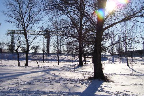 Комсомольский парк в снегу