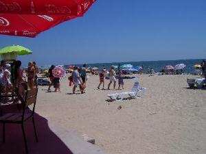 На пляже в Затоке