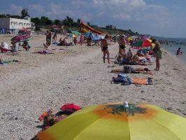 Утро на пляже на Азовском море