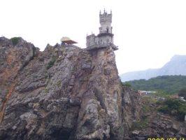 Замок на скале в Крыму