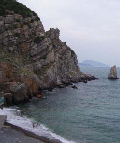 Море и пляж в Гаспре