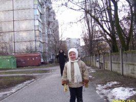 У дома 41 на Первом Занасыпе в Кременчуге