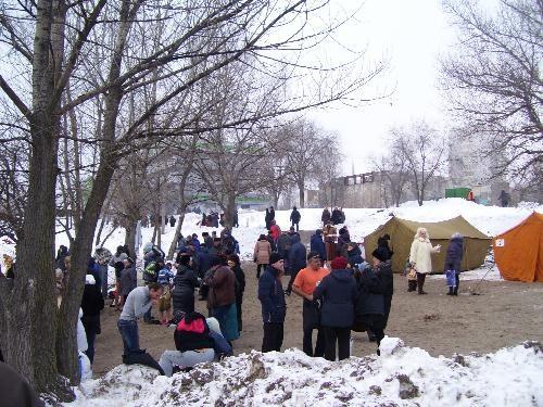 На берегу Днепра в январе