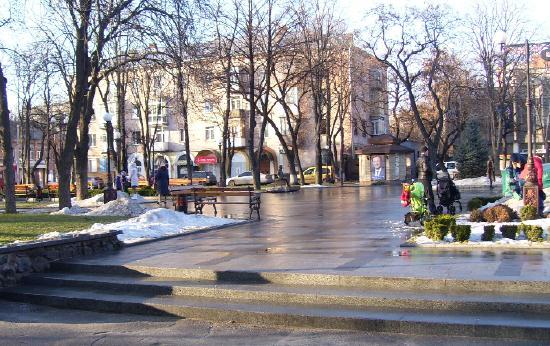 Зимой в сквере Бабаева
