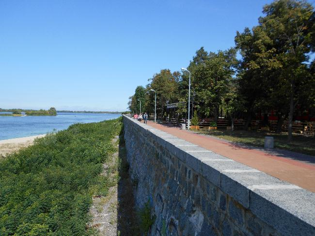Дамба в Приднепровском парке