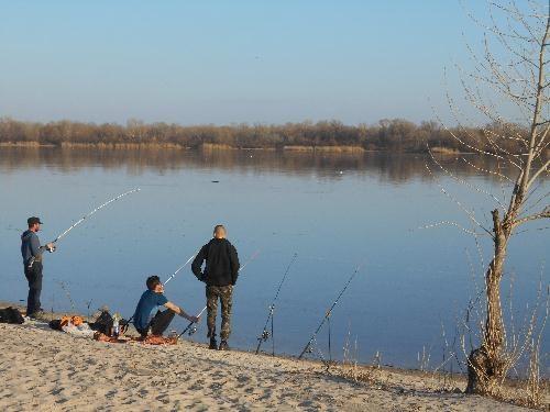 Рыбалка на пляже