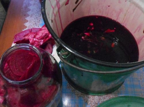 Кровавая маринованная капуста