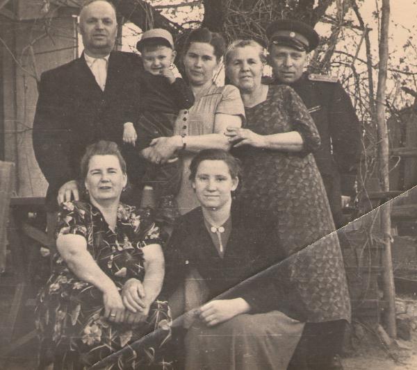 Сычев А. Г. с родственниками